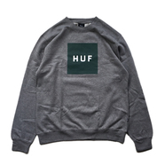 HUF / BOX LOGO CREWNECK FLEECE (GREY)