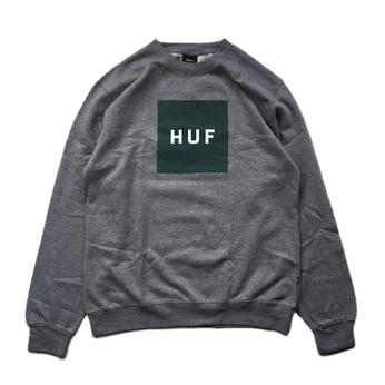 HUF / BOX LOGO CREWNECK FLEECE (GREY)