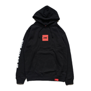 VISUAL / JUST SHOOT IT PULLOVER HOODIE (BLACK)