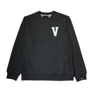 VISUAL / VARISTY CUSTOM CREWNECK (GREY)