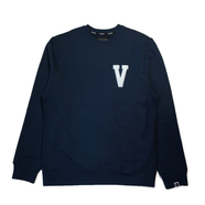 VISUAL / VARISTY CUSTOM CREWNECK (NAVY)