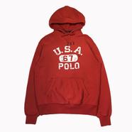 POLO RALPH LAUREN / USA 67 POLO HOODIE (RED)