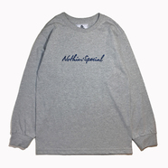 NOTHIN' SPECIAL / SCRIPT LOGO LONG SLEEVE TEE (GREY)