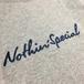 NOTHIN' SPECIAL / SCRIPT LOGO LONG SLEEVE TEE (GREY)