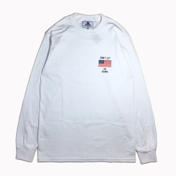 NOTHIN' SPECIAL / DON'T LET US DOWN LONG SLEEVE TEE (WHITE)