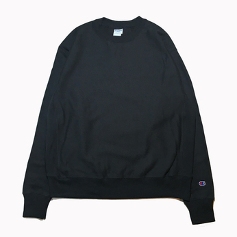 CHAMPION USA / REVERSE WEAVE CREW NECK (BLACK)