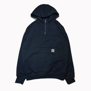 CARHARTT USA / Rain Defender Hooded Zip Mock Sweatshirt (NAVY)