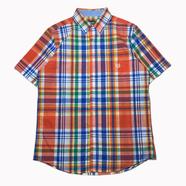 CHAPS / Plaid Button Down Shirt (ORANGE)