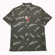 CHAPS / FISHBONE Outdoor Button Down Shirt (OLIVE)