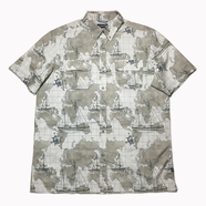 CHAPS / MAP Outdoor Button Down Shirt (BROWN)