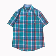CHAPS / Plaid Button Down Shirt (BLUE)
