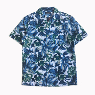 CHAPS / Tropical Printed Camp Shirts (BLUE)