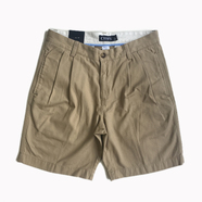CHAPS / 2TUCK COTTON TWILL SHORTS (BEIGE)
