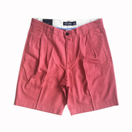 CHAPS / 2TUCK COTTON TWILL SHORTS (RED)