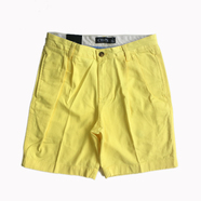 CHAPS / 2TUCK COTTON TWILL SHORTS (YELLOW)