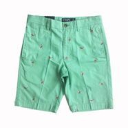 CHAPS / Flamingo Printed Cotton Shorts