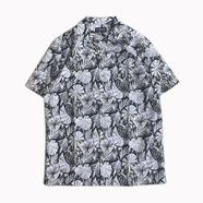 CHAPS / Tropical Printed Camp Shirts (BLACK)