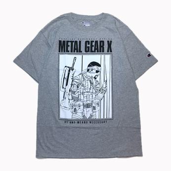 H33M / METAL GEAR X TEE (GREY)