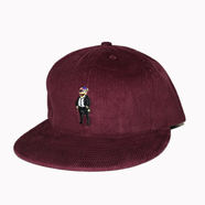 ACAPULCO GOLD / PARTY BEAR 6-PANEL CORDUROY CAP (BURGUNDY)