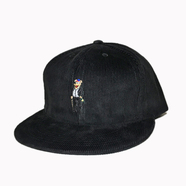 ACAPULCO GOLD / PARTY BEAR 6-PANEL CORDUROY CAP (BLACK)