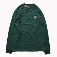 CARHARTT USA / POCKET HENLEY NECK LS TEE (Hunter Green)