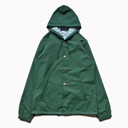 INDEPENDENT TRADING / HOODED COACHES JACKET (GREEN)