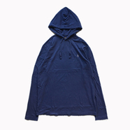 POLO RALPH LAUREN / HOODED LS TEE (NAVY)