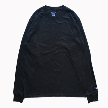 CHAMPION USA / 5.2oz Long Sleeve Tee (BLACK)
