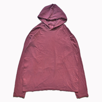 COMFORT COLORS / GARMENT DYED HOODED LS TEE (BRICK)