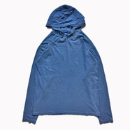 COMFORT COLORS / GARMENT DYED HOODED LS TEE (BLUE JEANS)