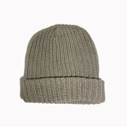 COLUMBIA KNIT / [MADE IN USA] SOLID COTTON KNIT CAP (OLD GOLD)