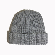 COLUMBIA KNIT / [MADE IN USA] SOLID COTTON KNIT CAP (SMOKY)