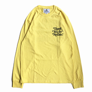 NOTHIN' SPECIAL / THANK YOU LONG SLEEVE TEE (YELLOW)
