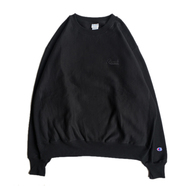 BENCH / Embroidery LOGO CREW NECK (BLACK)