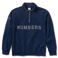 NUMBERS EDITION / OUTLINE WORDMARK 1/4 ZIP FLEECE PULLOVER