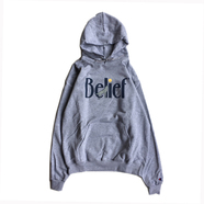 BELIEF / MIDNIGHT CHAMPION HOODY (STEEL GREY)