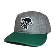 DECADES HAT / WORRIED RECORDS CAP (GREYxGREEN)
