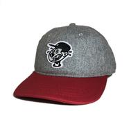 DECADES HAT / WORRIED RECORDS CAP (GREYxRED)
