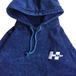 H33M / Mineral Wash Logo Hoody (BLUE)
