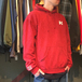 H33M / Mineral Wash Logo Hoody (RED)