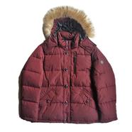 Calvin Klein / Faux Fur Hooded JKT (MAROON)