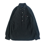 POLO RALPH LAUREN / HALF BUTTON SHIRT (BLACK)
