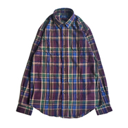 POLO RALPH LAUREN / PLAID OXFORD SHIRT (MERLOT)