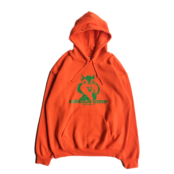WACK WACK / GREEN CHIP HOODY (ORANGE)