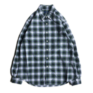 POLO RALPH LAUREN / PLAID OXFORD SHIRT (SMOKE GREEN)