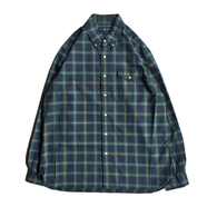 POLO RALPH LAUREN / PLAID OXFORD SHIRT (ARMY GREEN)