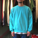 FRUIT OF THE LOOM / 7.2oz SOFSPUN CREW NECK (SCUBA BLUE)