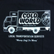 COLD WORLD FROZEN GOODS / MOVING COMPANY TEE (BLACK)