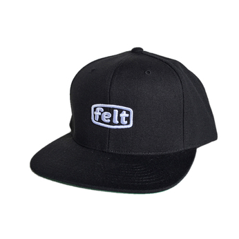 FELT / WORK LOGO HAT (BLACK)