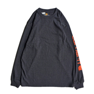 CARHARTT USA / SLEEVE LOGO LS TEE (CARBON HEATHER)